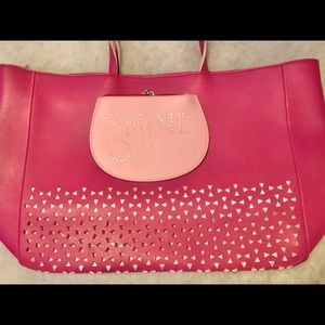 Bath and body pink bag